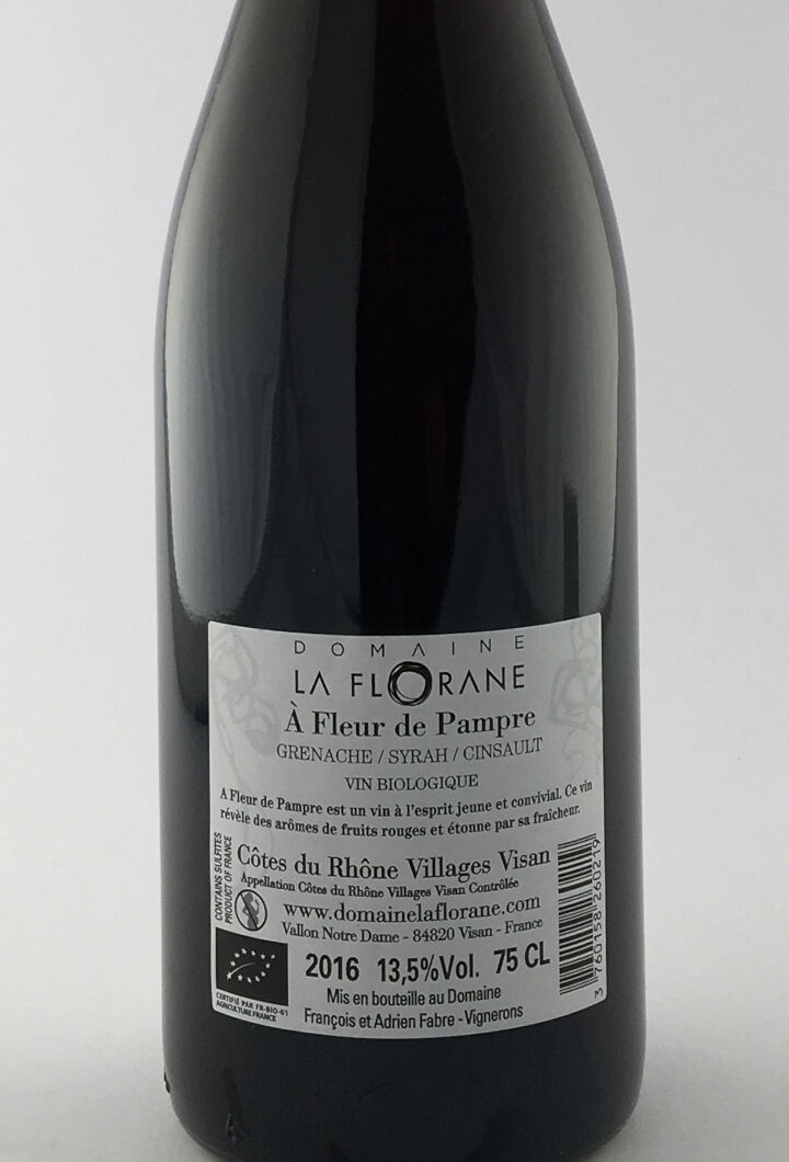CDR Villages - Visan La Florane A Fleur de Pampre 2016 75 cl Rouge