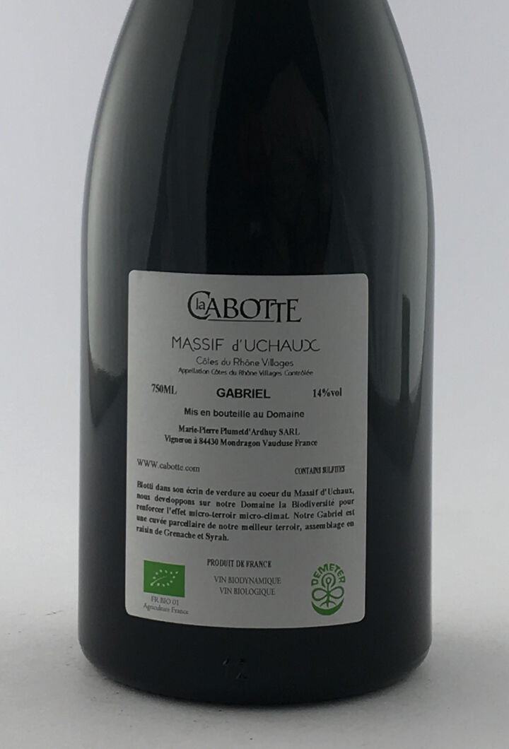 CDR Villages -  Massif d'uchaux La Cabotte Gabriel 2014 75 cl Rouge